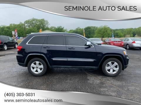 2011 Jeep Grand Cherokee for sale at Seminole Auto Sales in Seminole OK