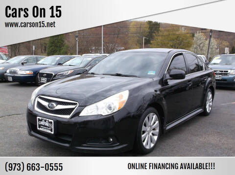 2010 Subaru Legacy for sale at Cars On 15 in Lake Hopatcong NJ