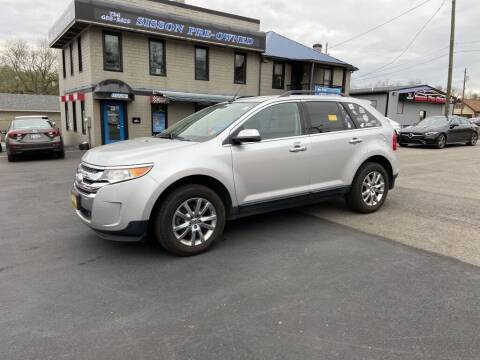 2013 Ford Edge for sale at Sisson Pre-Owned in Uniontown PA