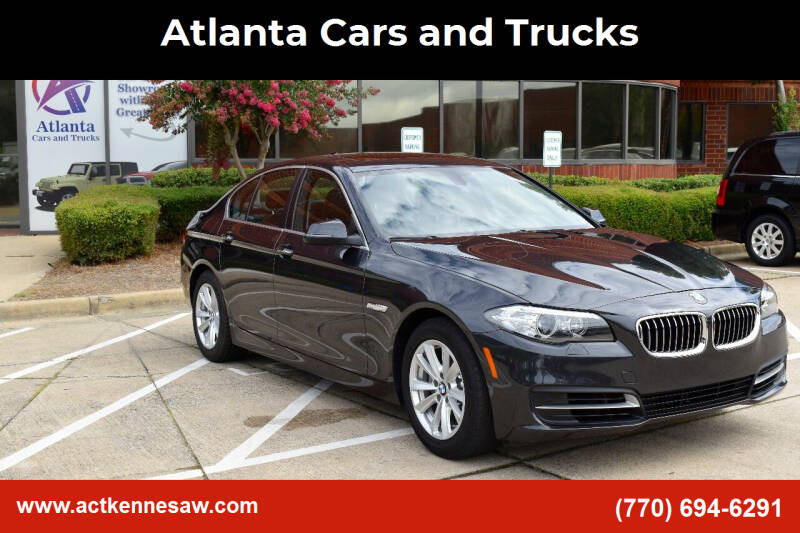 2014 BMW 5 Series for sale at Atlanta Cars and Trucks in Kennesaw GA