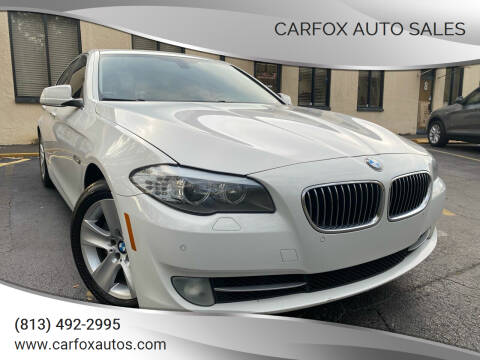 2013 BMW 5 Series for sale at Carfox Auto Sales in Tampa FL
