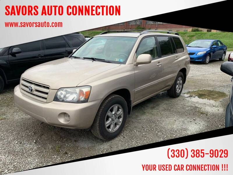 2005 Toyota Highlander for sale at SAVORS AUTO CONNECTION LLC in East Liverpool OH