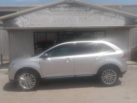 2011 Lincoln MKX for sale at Don Auto World in Houston TX