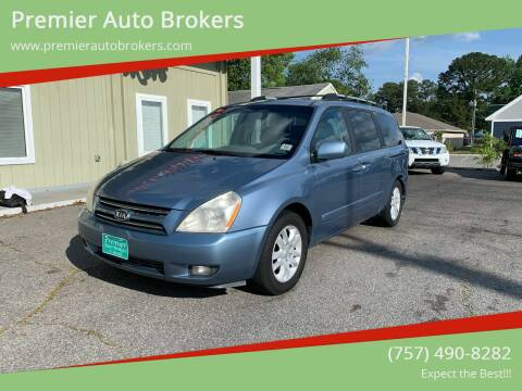 2007 Kia Sedona for sale at Premier Auto Brokers in Virginia Beach VA