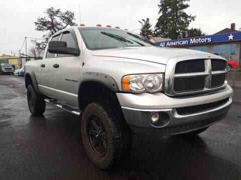 2005 Dodge Ram Pickup 3500 for sale at All American Motors in Tacoma WA