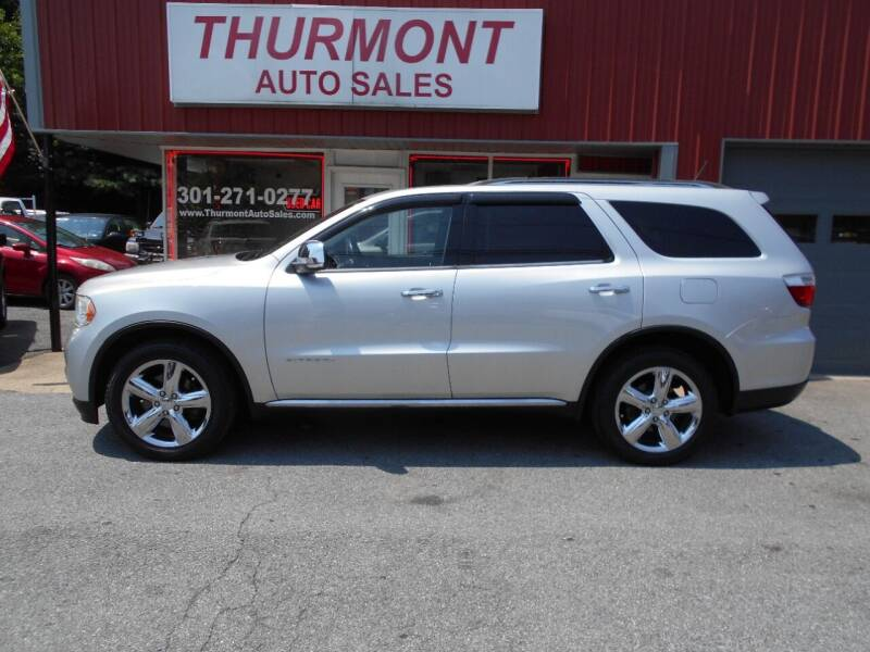 2012 Dodge Durango for sale at THURMONT AUTO SALES in Thurmont MD