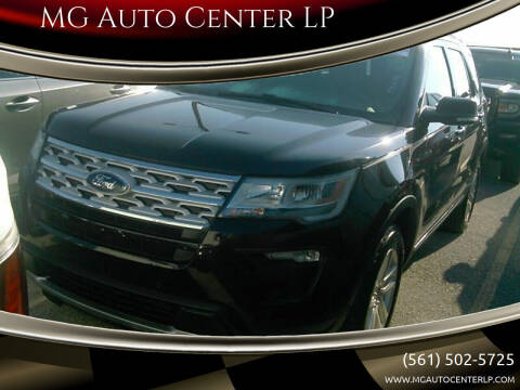 2019 Ford Explorer for sale at MG Auto Center LP in Lake Park FL
