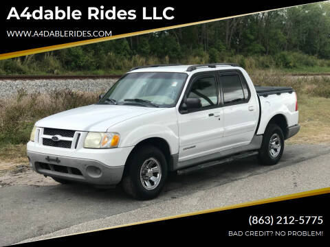 2001 Ford Explorer Sport Trac for sale at A4dable Rides LLC in Haines City FL