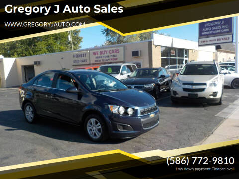 2016 Chevrolet Sonic for sale at Gregory J Auto Sales in Roseville MI