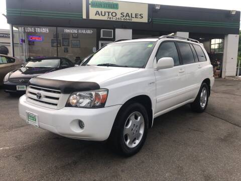 2005 Toyota Highlander for sale at Wakefield Auto Sales of Main Street Inc. in Wakefield MA
