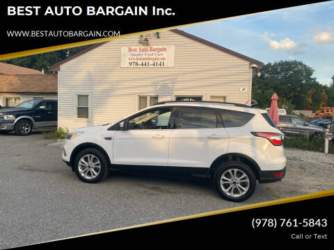 2018 Ford Escape for sale at BEST AUTO BARGAIN inc. in Lowell MA