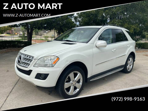 2010 Mercedes-Benz M-Class for sale at Z AUTO MART in Lewisville TX