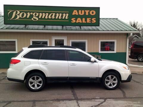 2013 Subaru Outback for sale at Borgmann Auto Sales in Norfolk NE