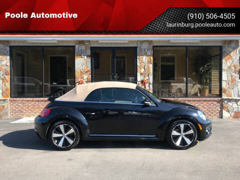 2013 Volkswagen Beetle Convertible for sale at Poole Automotive in Laurinburg NC