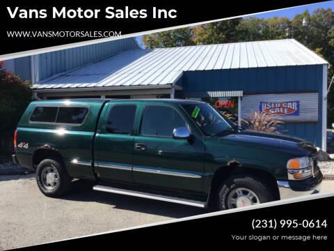 2001 GMC Sierra 1500 for sale at Vans Motor Sales Inc in Traverse City MI