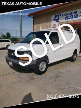 2009 Chevrolet Express Passenger for sale at TEXAS AUTOMOBILE in Houston TX