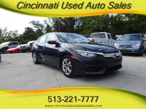 2016 Honda Civic for sale at Cincinnati Used Auto Sales in Cincinnati OH