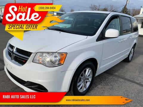 2014 Dodge Grand Caravan for sale at RABI AUTO SALES LLC in Garden City ID