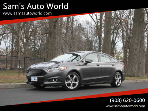 2015 Ford Fusion for sale at Sam's Auto World in Roselle NJ