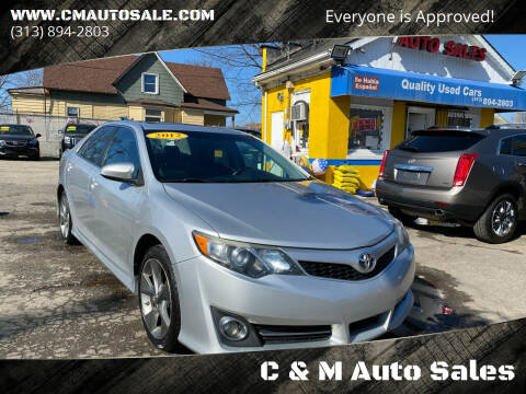 2012 Toyota Camry for sale at C & M Auto Sales in Detroit MI