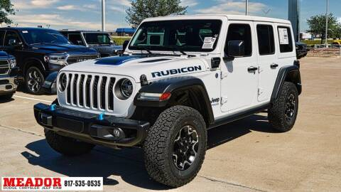 2021 Jeep Wrangler 4xe for sale at Meador Dodge Chrysler Jeep RAM in Fort Worth TX