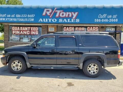 2005 Chevrolet Suburban for sale at R Tony Auto Sales in Clinton Township MI