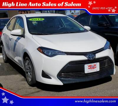 2019 Toyota Corolla for sale at High Line Auto Sales of Salem in Salem NH