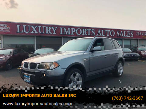 2004 BMW X3 for sale at LUXURY IMPORTS AUTO SALES INC in North Branch MN