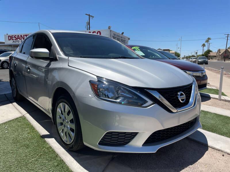 2019 Nissan Sentra for sale at DESANTIAGO AUTO SALES in Yuma AZ