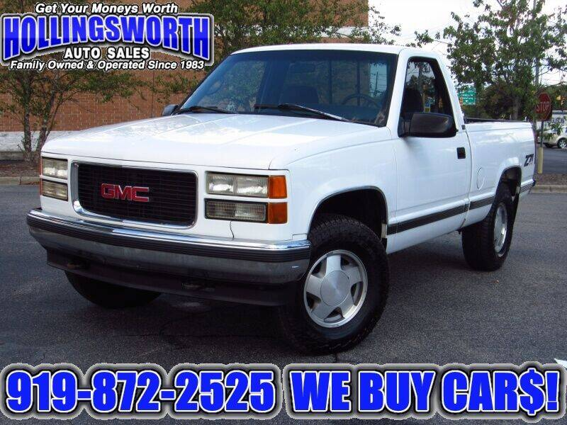 1996 GMC Sierra 1500 for sale at Hollingsworth Auto Sales in Raleigh NC