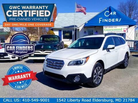 2015 Subaru Outback for sale at CAR FINDERS OF MARYLAND LLC - Certified Cars in Eldersburg MD