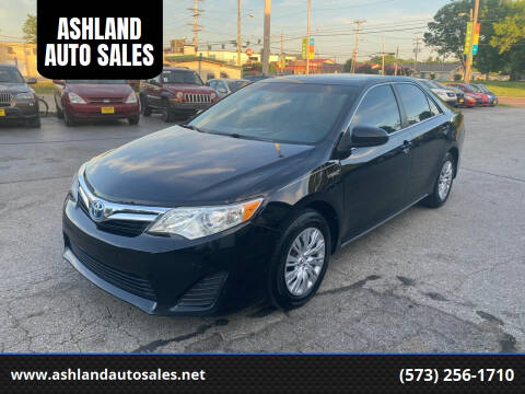 2013 Toyota Camry Hybrid for sale at ASHLAND AUTO SALES in Columbia MO