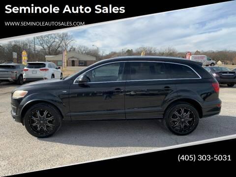 2009 Audi Q7 for sale at Seminole Auto Sales in Seminole OK