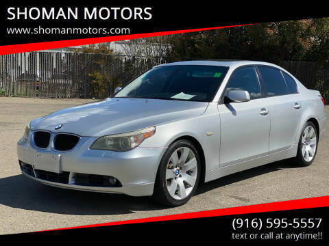 2004 BMW 5 Series for sale at SHOMAN AUTO GROUP in Davis CA