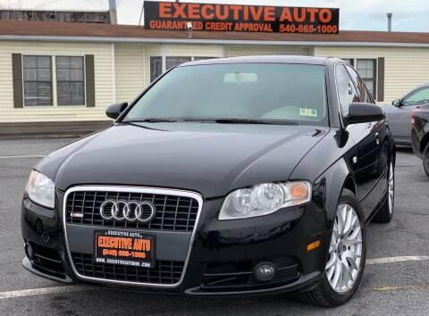 2008 Audi A4 for sale at Executive Auto in Winchester VA