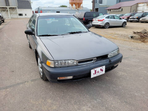 1990 Honda Accord for sale at J & S Auto Sales in Thompson ND