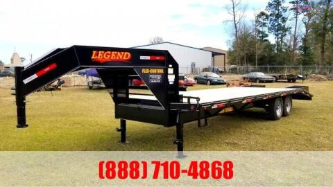 2021 LEGEND 25' Flatbed Gooseneck for sale at Montgomery Trailer Sales - LEGEND in Conroe TX