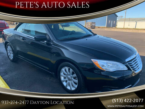 2012 Chrysler 200 Convertible for sale at PETE'S AUTO SALES - Dayton in Dayton OH