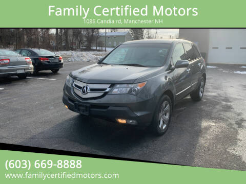 2008 Acura MDX for sale at Family Certified Motors in Manchester NH