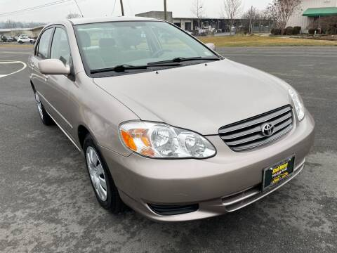 2003 Toyota Corolla for sale at Shell Motors in Chantilly VA