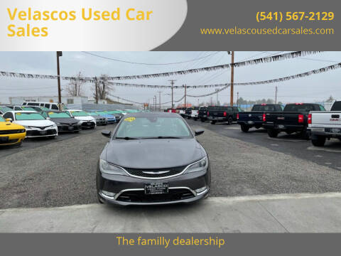 2015 Chrysler 200 for sale at Velascos Used Car Sales in Hermiston OR