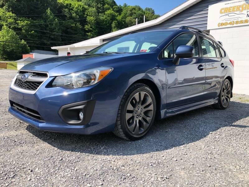 2012 Subaru Impreza for sale at Creekside PreOwned Motors LLC in Morgantown WV