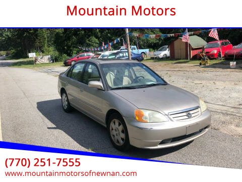 2002 Honda Civic for sale at Mountain Motors in Newnan GA