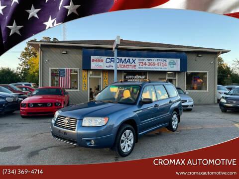 2008 Subaru Forester for sale at Cromax Automotive in Ann Arbor MI