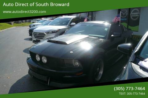2008 Ford Mustang for sale at Auto Direct of South Broward in Miramar FL