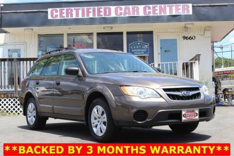 2009 Subaru Outback for sale at CERTIFIED CAR CENTER in Fairfax VA