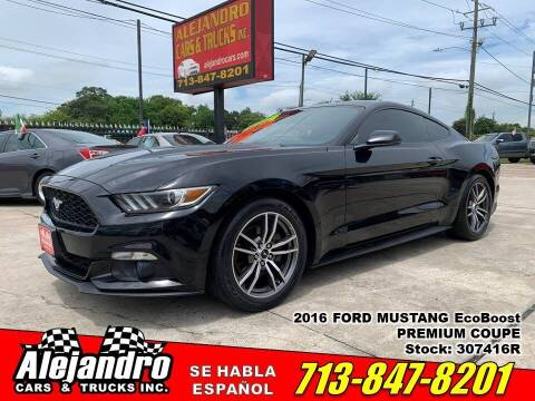 2016 Ford Mustang for sale at Alejandro Cars & Trucks Inc in Houston TX