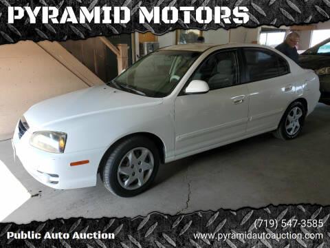 2004 Hyundai Elantra for sale at PYRAMID MOTORS - Pueblo Lot in Pueblo CO