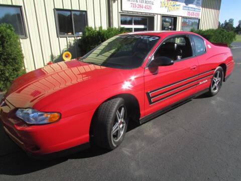 2004 Chevrolet Monte Carlo for sale at Toybox Rides in Black River Falls WI