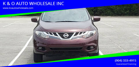 2009 Nissan Murano for sale at K & O AUTO WHOLESALE INC in Jacksonville FL